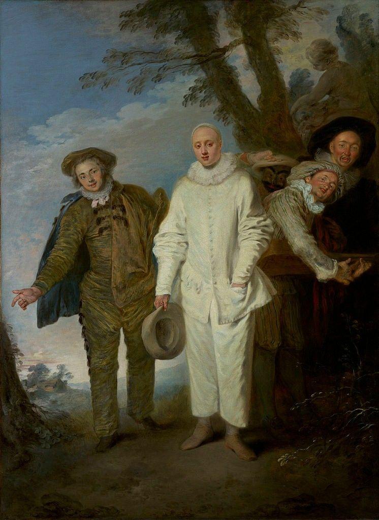 Jean-Antoine Watteau - The Italian Comedians, 1720. | Commedia ...