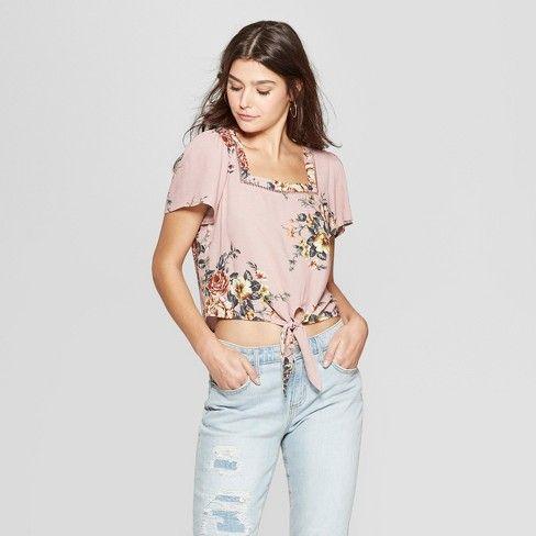 b4b28350dc9 Women's Floral Print 3/4 Sleeve Off The Shoulder Smocked Top Dress -  Xhilaration™ : Target