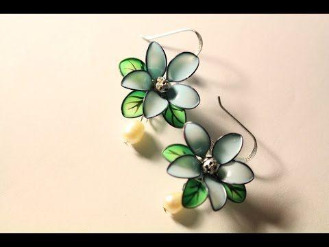 fiori con filo di ferro e smalto per le unghie