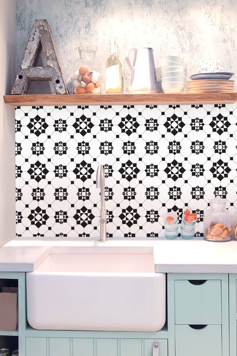 Victorian Kitchen Bathroom Backsplash Vinyl Tile Decals Tile
