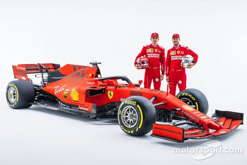 Charles Leclerc Ferrari Sebastian Vettel Ferrari With The