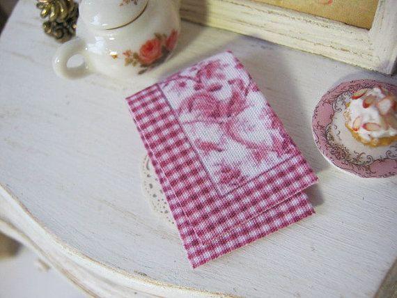 Red Toile Tea Towel Dollhouse By Alavenderdilly On Etsy Tea