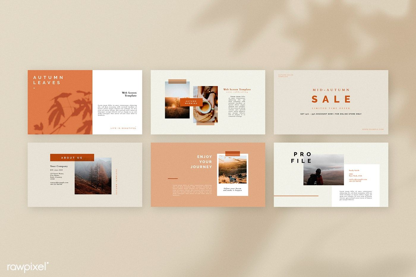 Download Premium Vector Of Autumn Color Tone Social Media Blog Template Blog Template Business Card Template Design Social Media Template