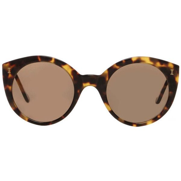 6a82d4cc00 Illesteva Palm Beach Tortoise Sunglasses ( 240) ❤ liked on Polyvore  featuring accessories