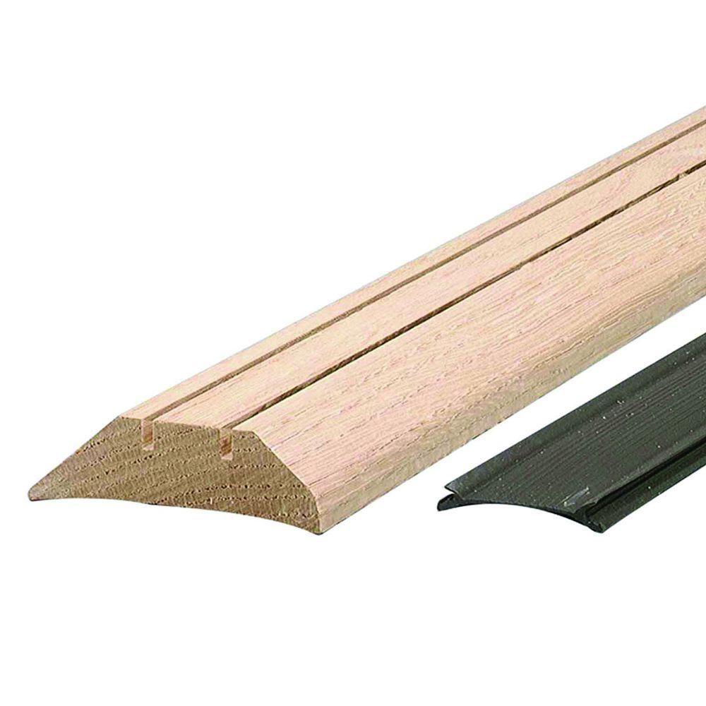 M D Building Products High 3 1 2 In X 72 1 2 In Unfinished Hardwood Threshold With Flexible Vinyl Seal 99039072500 Hardwood Door Weather Stripping Doors Floors