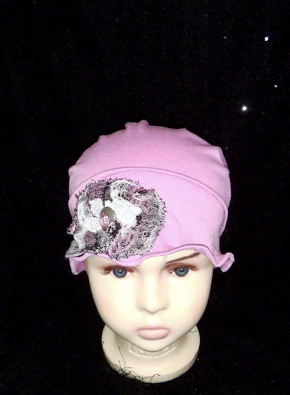 Chapeau souple chimio, petit enfant bébé, bonnet cancer, couvre tête, perte  de cheveux, béret alopécie, tuque rose, fait à la main. by BleukaktusHats  on ... 9c83a408092