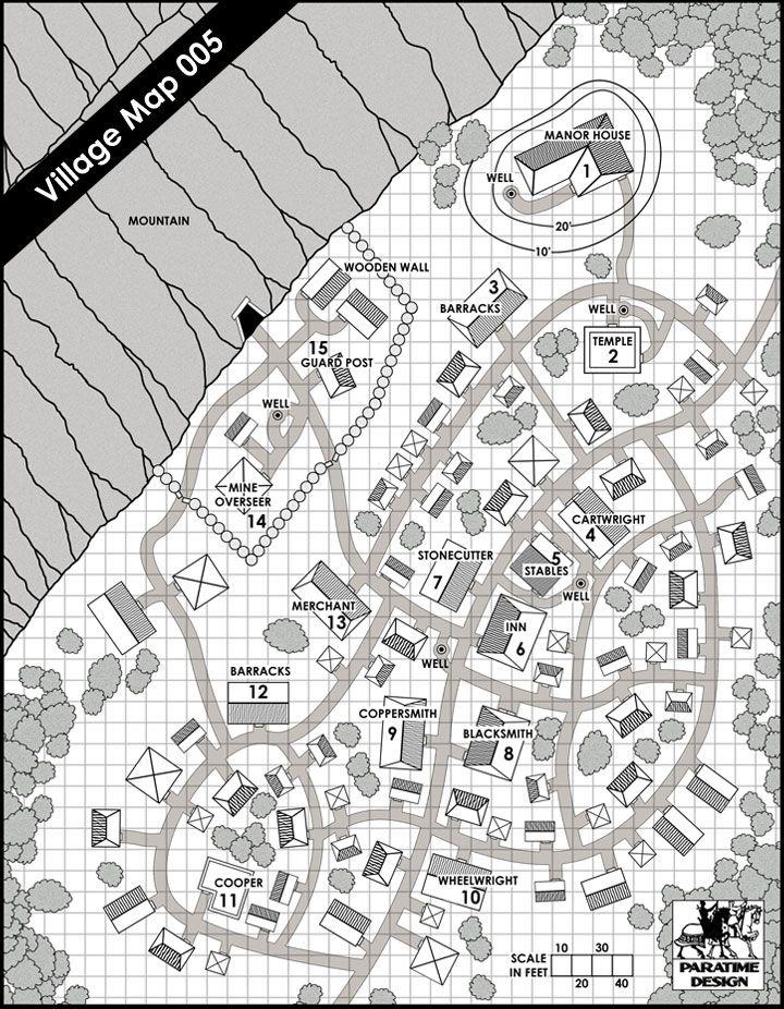 Village Map 005 - Paratime Design | DriveThruRPG com | RPG