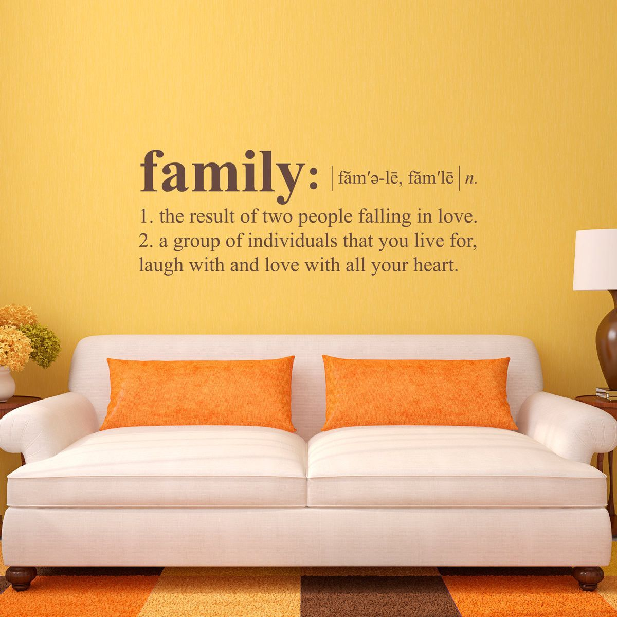 Family Definition Wall Decal - Dictionary definition Decal - Family ...