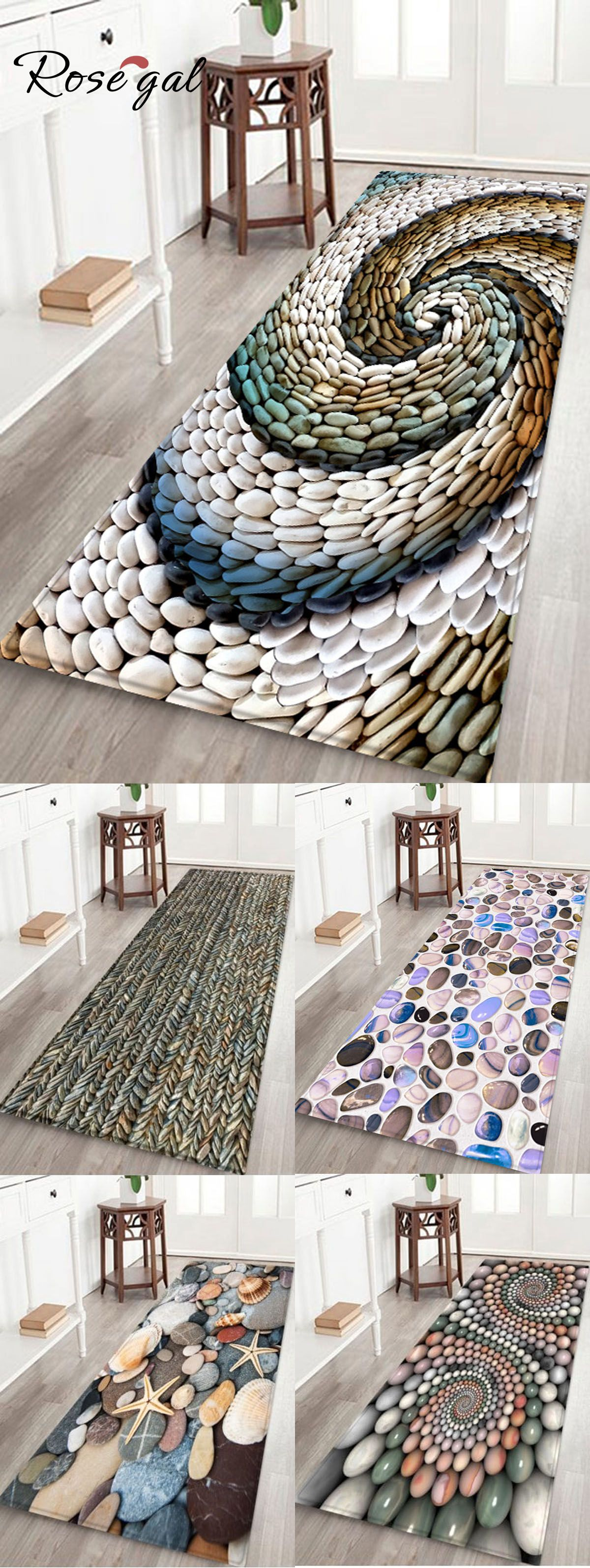 Stone print carpets and rugs