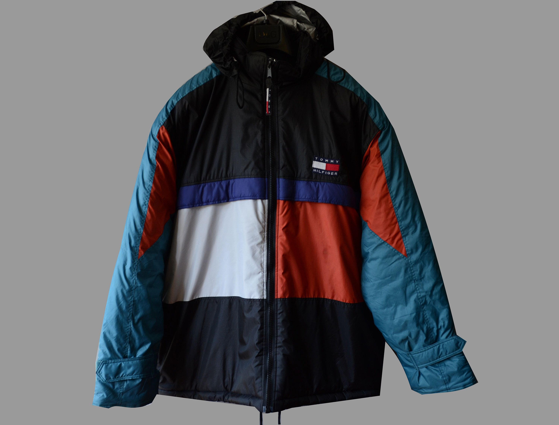 Vintage Tommy Hilfiger Big Logo Rare 90s Winter Jacket Coat Etsy Winter Coats Jackets Vintage Jacket Winter Jackets [ 2279 x 3000 Pixel ]
