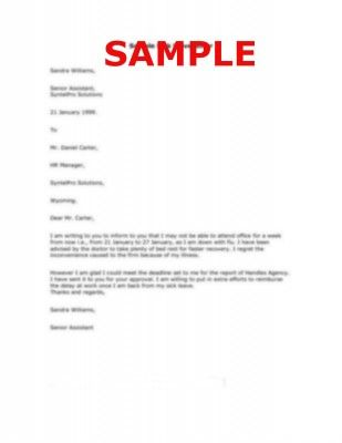 Sample of Personal Reason Leave Letter | Careers & Jobs