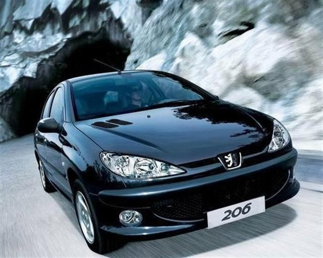 Peugeot 206 in black - schwarz - zwart - noir. Find Peugeot 206 used ...