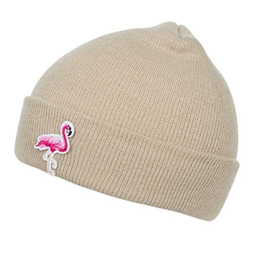 Women Flamingo Knitted Beanie Fashion Cuffed Plain Winter Hat Beige --  Check out this great product. (This is an affiliate link) 349f1f0d962d