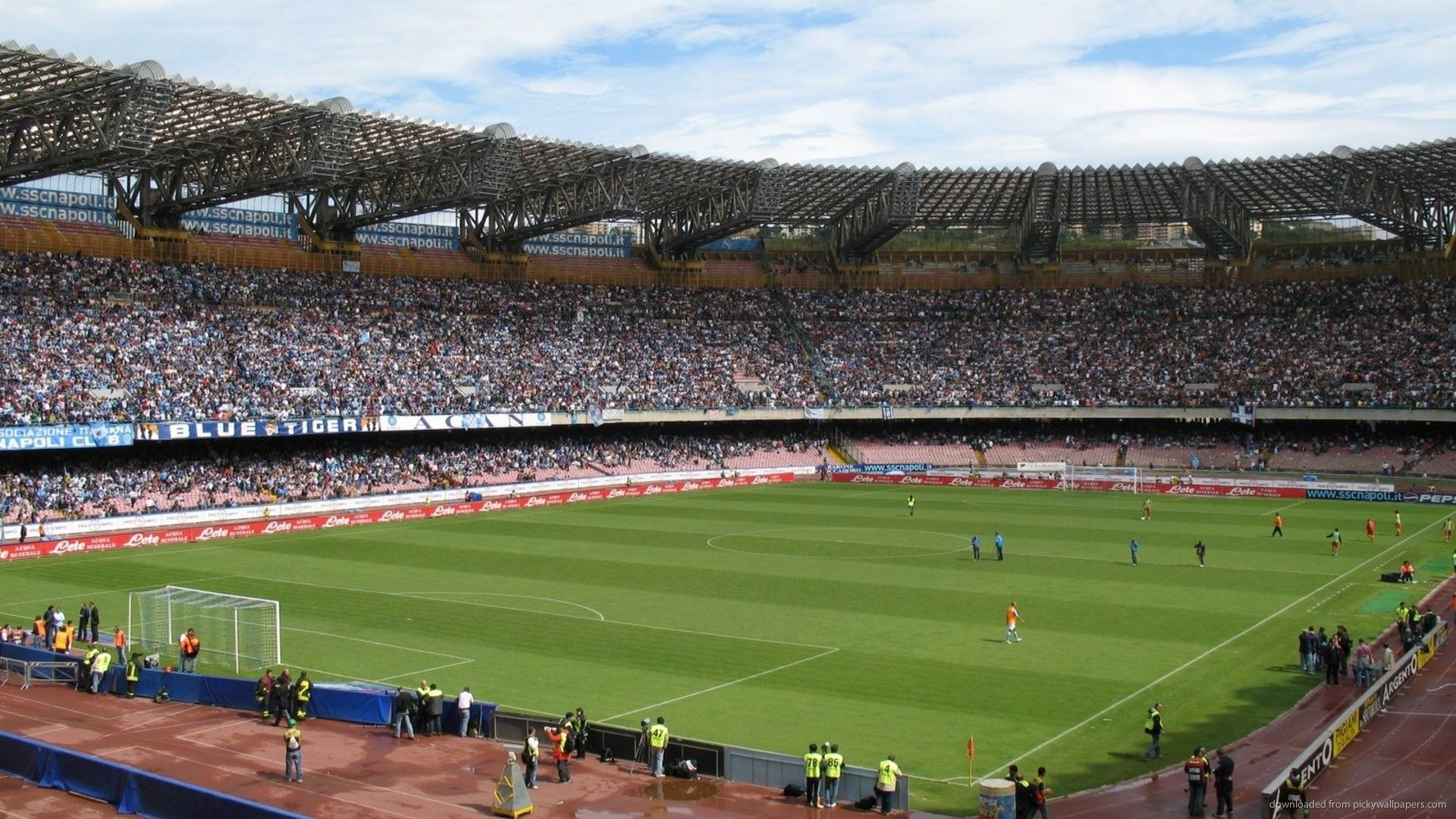 Stadion San Paolo, Naples, Italy Football field