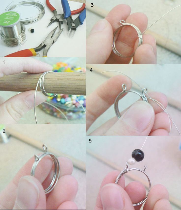Wire Wrapped Bead RingFree Diy Jewelry Projects | Learn how to make jewelry - beads.us