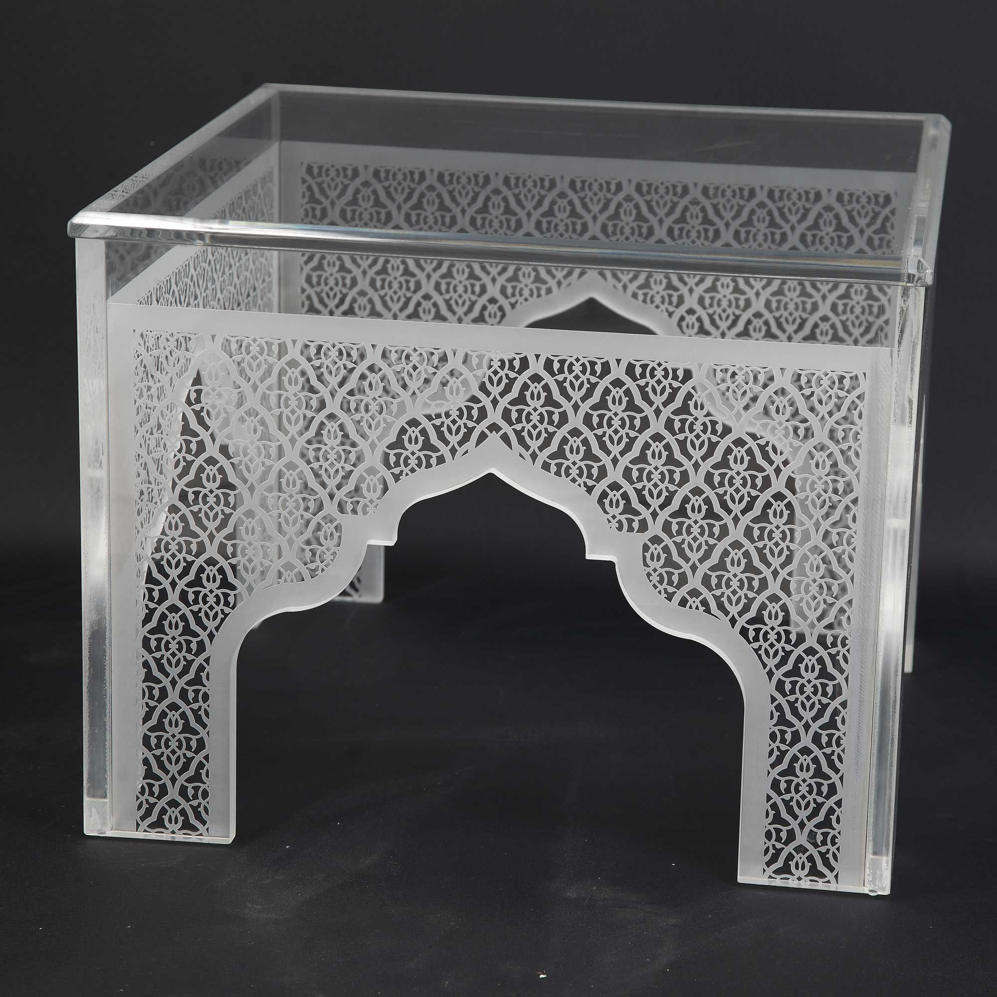 Plexi Low Table. Designed By: ZAMAN Designs. To Be Ordered Online Through  Www