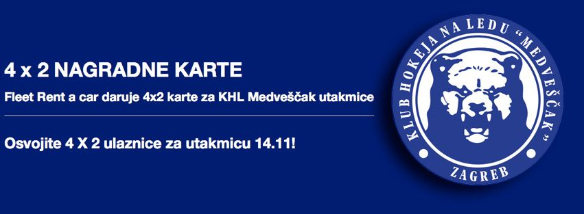 Fleet Rent A Car Daruje 4x2 Karte Za Khl Medvescak Utakmice Thrifty Car Rental Rijeka Car Rental