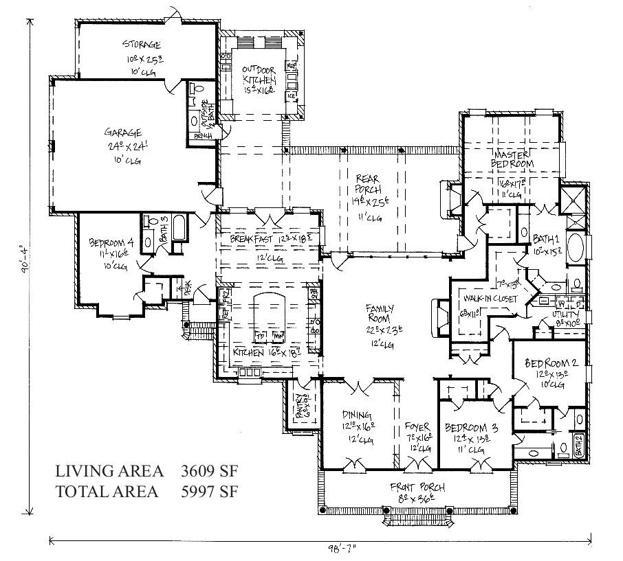 Hattiesburg Country French Home Plans Country French Floor Plans House Plans French House Plans