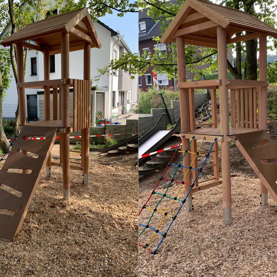 Spielturm Holz Im Garten Gartenbau Spielturm