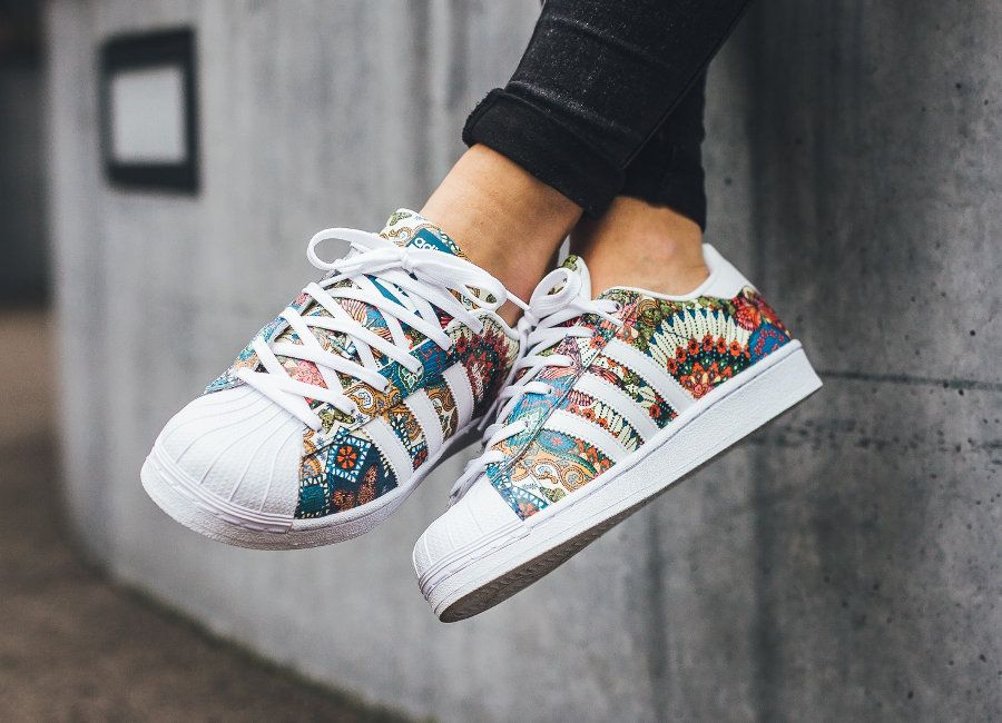 The Farm Company x Adidas Superstar W 'Tropical' (Noble Teal