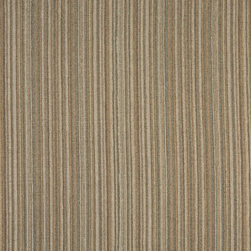 Yellow Stripe Beige And Brown Small Scale Chenille Upholstery Fabric