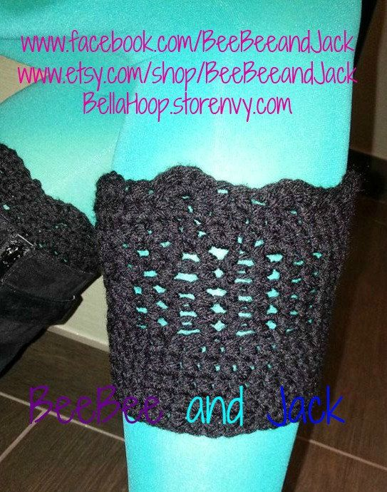 The perfect winter accessory for your adorable boots!  Crochet Boot Cuffs- Boot Cuffs- Boot accessories
