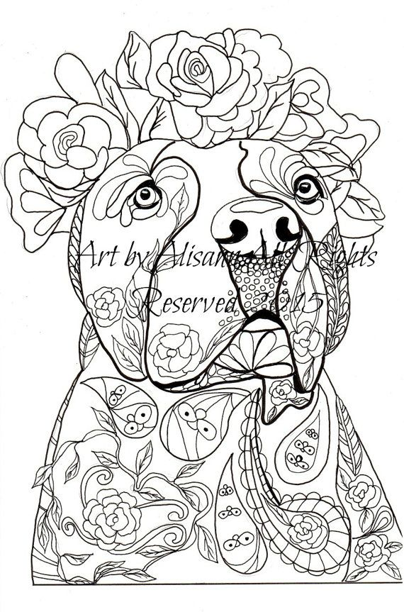 Love Dogs Coloring Book For Adults Vol 1 By Abeesartstudio Dog