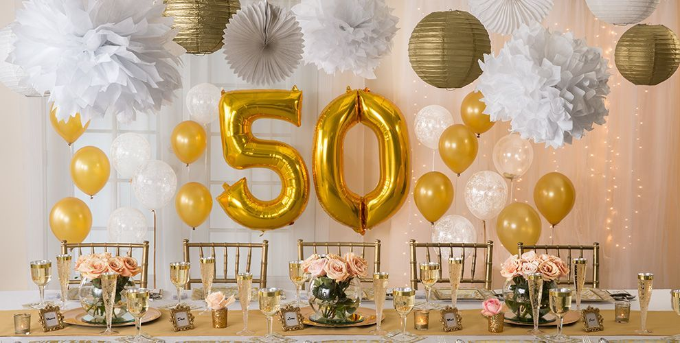 Suggestions For 50th Wedding Anniversary Gifts: Golden 50th Wedding Anniversary Party Supplies