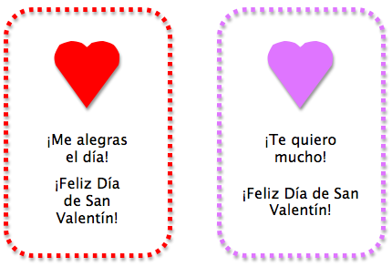 Simple Printable Spanish Valentine S Day Cards Spanish Playground Valentines For Kids Spanish Kids Valentines Day Activities