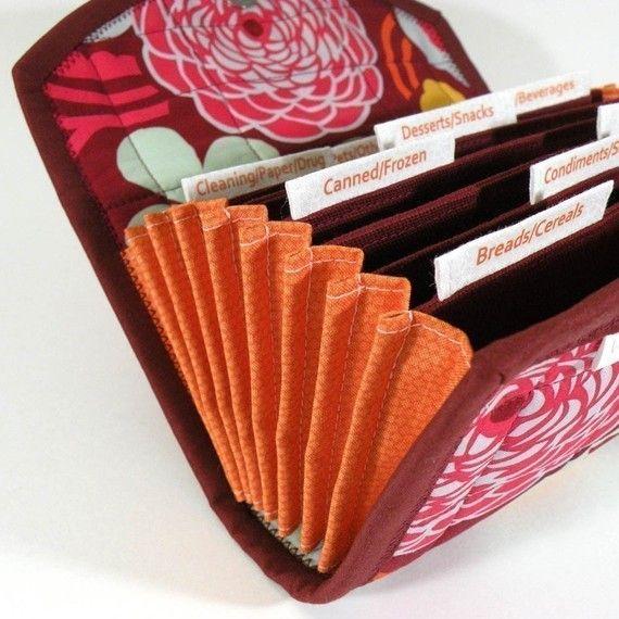 pdf sewing pattern - accordion style cash    coupon    expense    receipt organizer