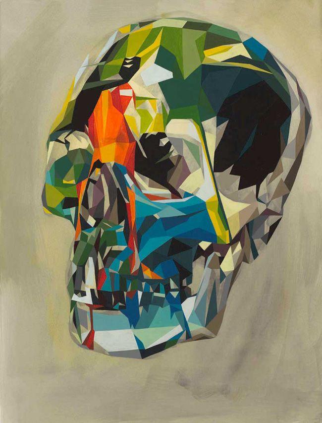 Doom Loop Artist Tim Biskup Skull Painting Art Painting
