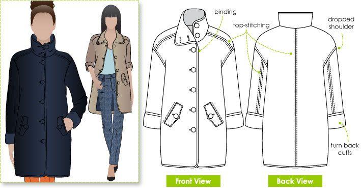 Janet Sews Top Twelve Independent Pattern Companies Coat