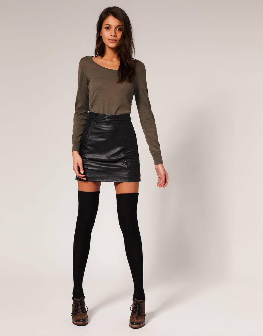 Leather skirts | Leather fashion | Leather, Skirts and Leather ...