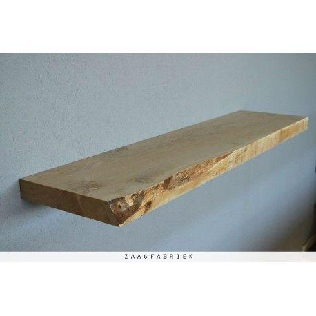 Wandplank Zwevend 80 Cm.Robuuste Boomstam Wandplank Uit Massief Eikenhout Ook Geschikt Als