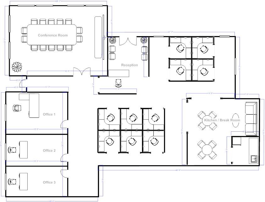 Effective room layout planner for space saving and for Office floor plan samples