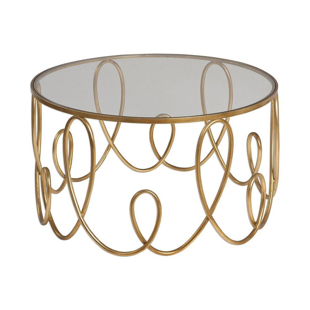 Shop Uttermost Brielle Gold Coffee Table at ATG Stores Browse