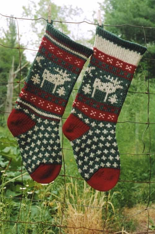 Moose Christmas Stocking Pattern Moose Christmas Stocking