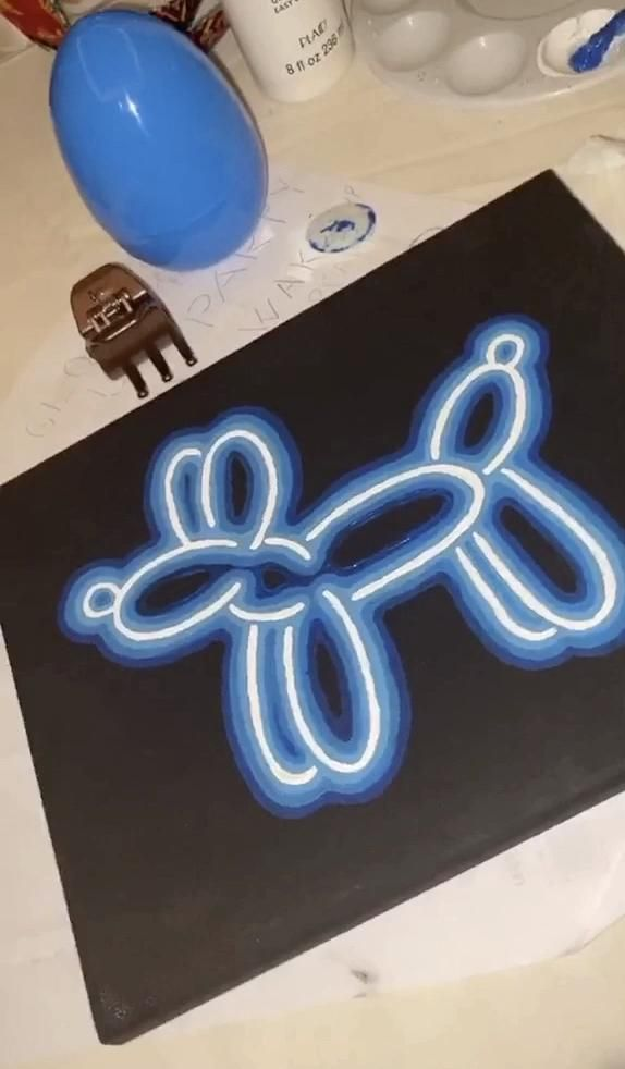 Neon Painting Tutorials Video Diy Canvas Art Painting Cute Canvas Paintings Diy Art Painting