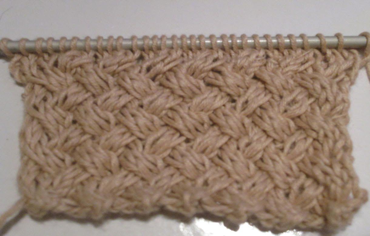tuto tricot apprendre a tricoter le gros point de vannerie. Black Bedroom Furniture Sets. Home Design Ideas