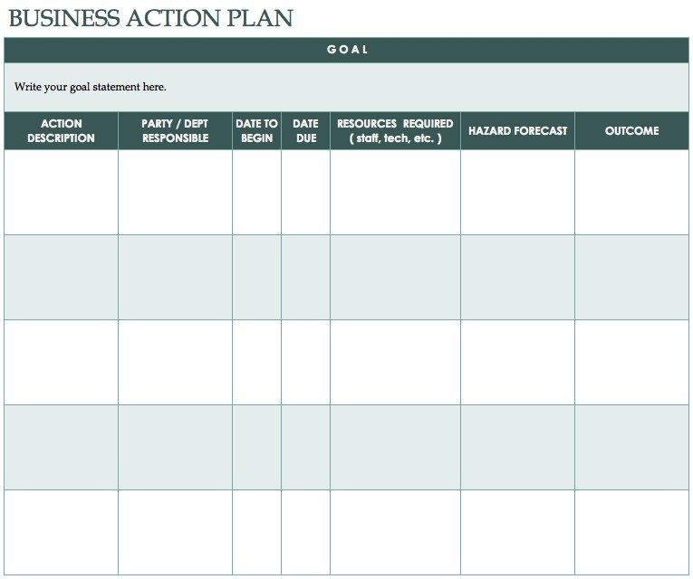 Free Action Plan Templates - Smartsheet in Business Action Plan - Event Plan Template