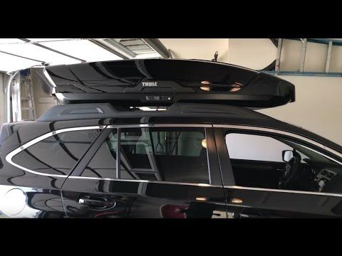 7 Thule Motion Xt Xl Roof Box 2017 Subaru Outback Youtube
