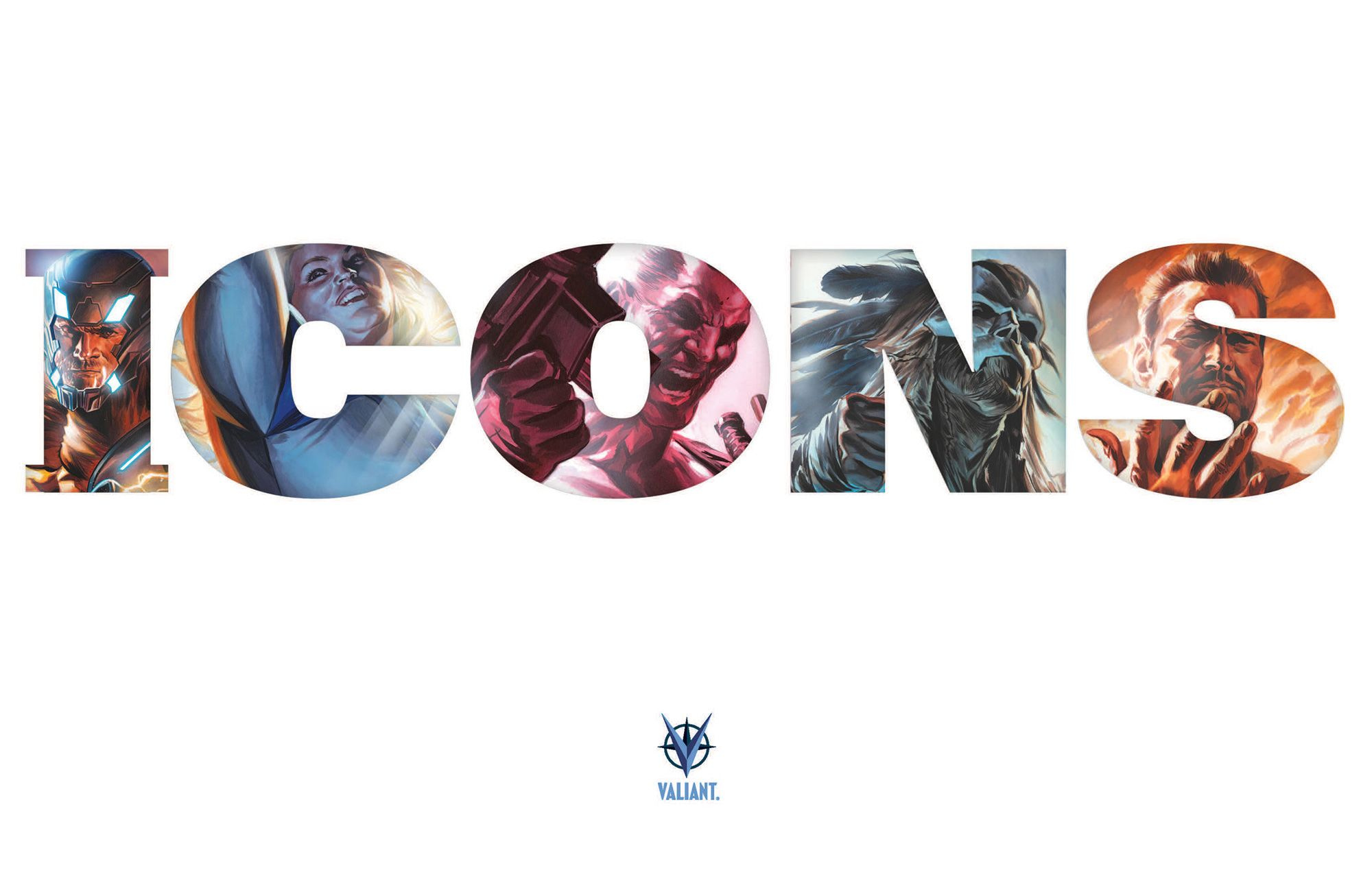ICONS A NEW DAWN FOR VALIANT'S GREATEST HEROES X-O MANOWAR FAITH BLOODSHOT SHADOWMAN HARBINGER WARS 2 BEGINNING IN 2017 — Teaser Artwork by Felipe Massafera For more information, visit ValiantonFacebook,Twitter,Tumblr,Instagram, andValiantUniverse.com. For Valiant merchandise... Bloodshot, Faith, Felipe Massafera, harbinger wars 2, Icons, Shadowman, Valiant, Valiant Entertainment, X-O Manowar
