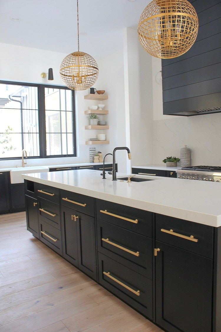 Marvelous Contemporary Kitchens With Black Colors Black Kitchen Black Cabinet Contempora Modern Kitchen Design Simple Kitchen Design Interior Design Kitchen