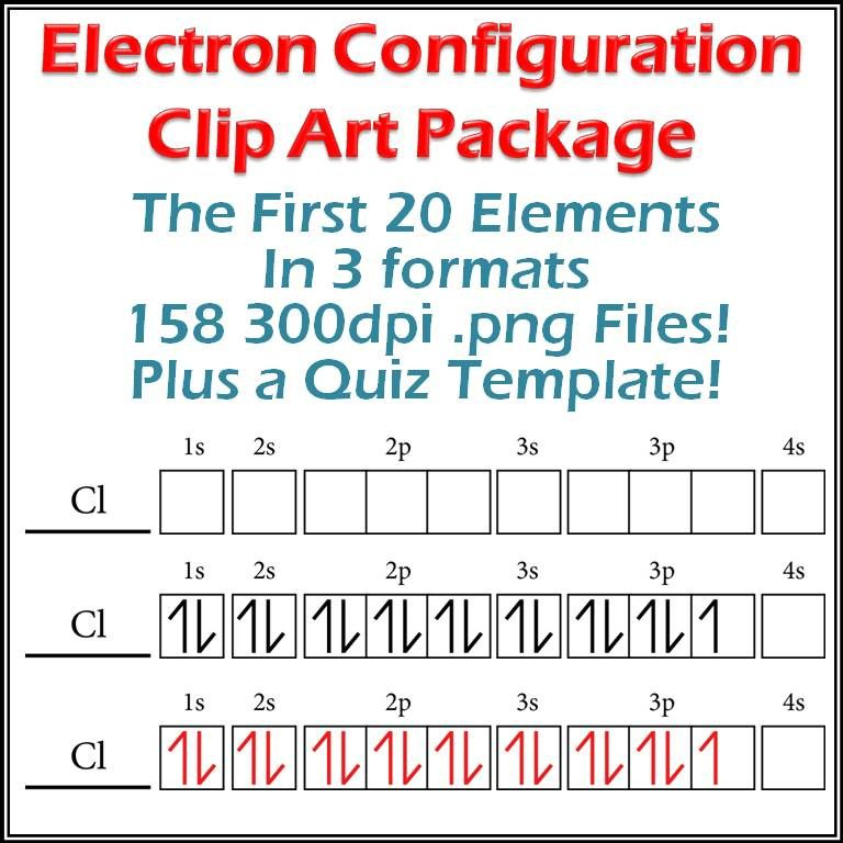 Electron Configuration Diagrams Clip Art And MakeYourOwnQuiz