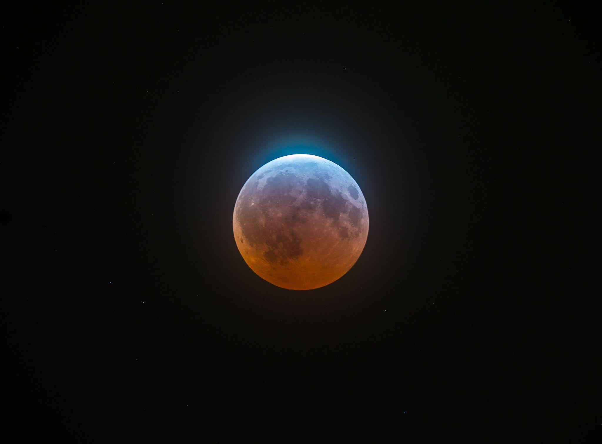 красивые картинки лунного затмения сможет