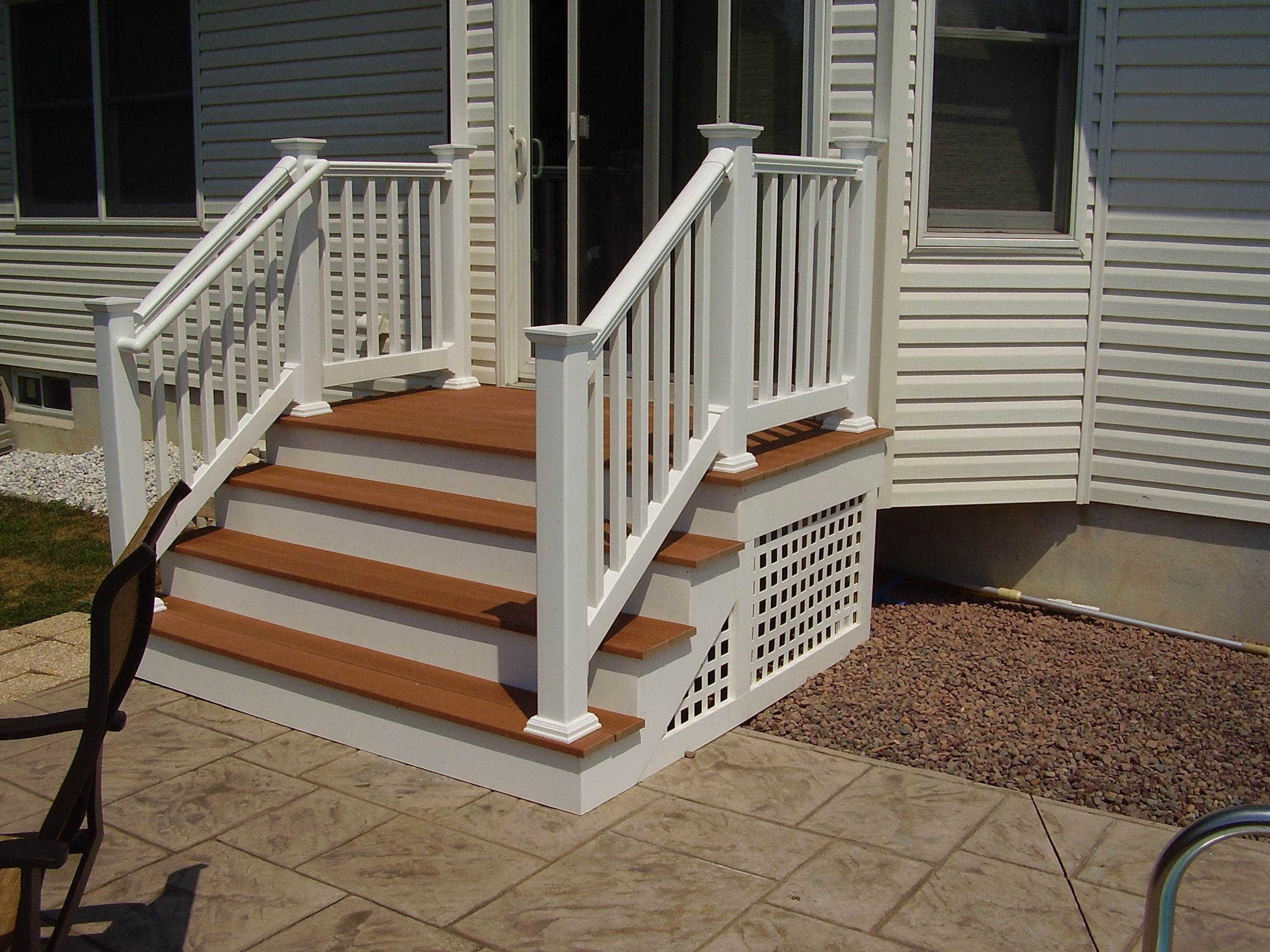 Best Outdoor Steps On Porch With Railing Backyard Nj Carl S Fencing Decking And Home Improvements 400 x 300