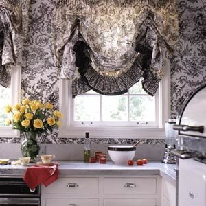 Love These Curtains For The Kitchen Except I Would Get Them In Red French Country Decorating Modern Kitchen Window Cottage Curtains