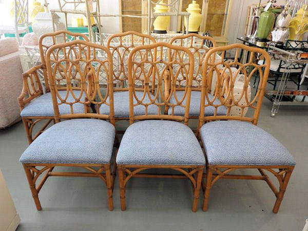 Set of 6 Rattan CIRCLE Back Chairs for the Kitchen:)