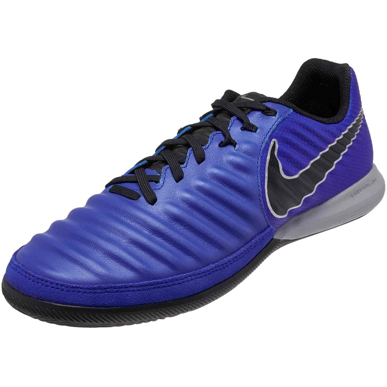 bbcb4a2c1 Nike Tiempo LegendX 7 Pro IC – Racer Blue Black Metallic Silver ...