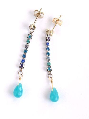 making jewelry- Ombre Rhinestone Earrings 1